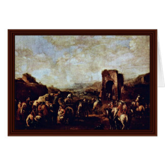 Military Camp By Rugendas Georg Philipp Greeting Card