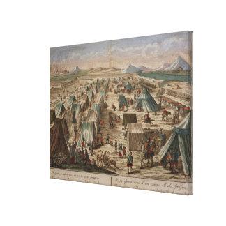 Military camp, c.1780 canvas print