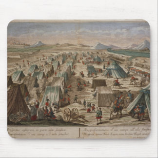 Military camp, c.1780 mouse pad