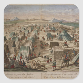 Military camp, c.1780 square stickers