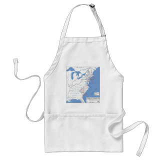 Military Campaigns of the American Revolution Adult Apron