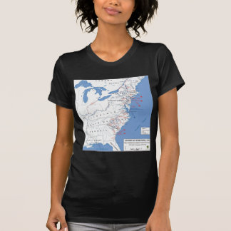 Military Campaigns of the American Revolution Tee Shirt