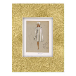 Military Cape Fashion layered epaulets at shoulder Postcard