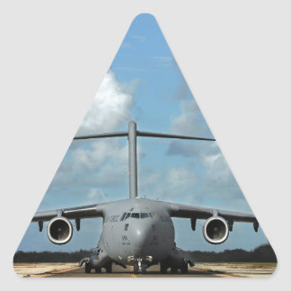 Military cargo plane landing triangle sticker