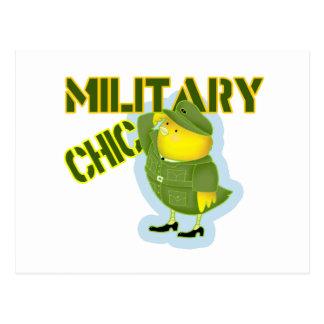 Military Chic Postcard