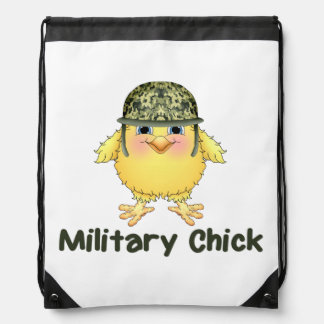 Military Chick Drawstring Backpack