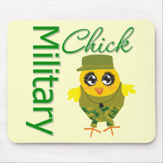 Military Chick Mouse Pad