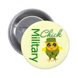 Military Chick Pinback Button