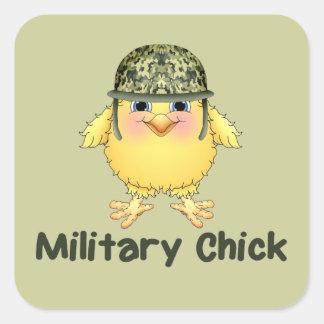 Military Chick Square Sticker