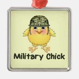 Military Chicks Metal Ornament