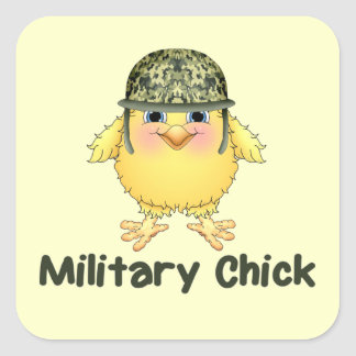 Military Chicks Square Sticker