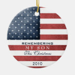 Military Christmas Ceramic Ornament