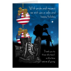 Military Christmas Greeting Card With Pride at Zazzle