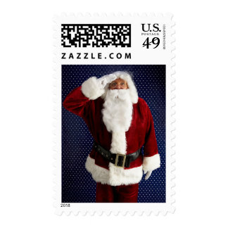 Military Christmas Santa Claus Supports Troops Postage Stamp