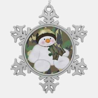 Military Christmas Snowman Ornaments