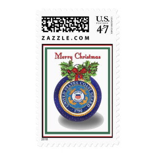 Military Coast Guard Christmas Postage Stamps at Zazzle