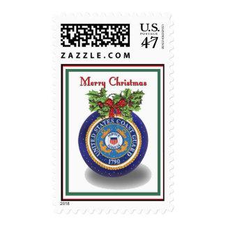 Military Coast Guard Christmas Postage Stamps