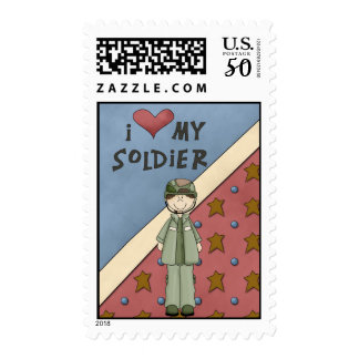 Military Collection Army Girl Soldier Postage Stam