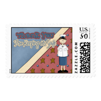 Military Collection Coast Guard Girl Postage Stamp