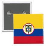 Military Colombia, Colombia flag Pinback Button