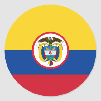 Military Colombia, Colombia flag Classic Round Sticker