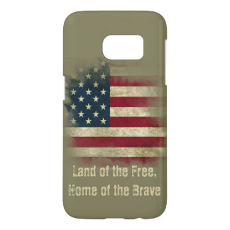 Military Colors US Flag. Land of the Free Samsung Galaxy S7 Case