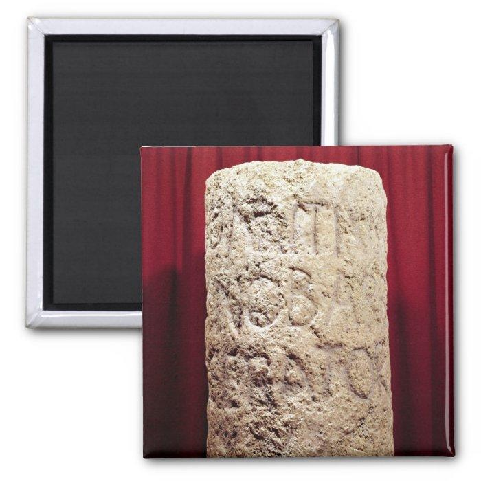 Military column of Domitius Ahenobarbus 2 Inch Square Magnet
