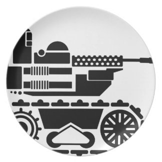 Military Combat remote controlled Robot Dinner Plate