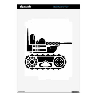 Military Combat remote controlled Robot iPad 2 Decal