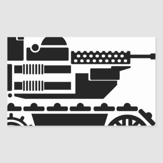 Military Combat remote controlled Robot Rectangular Sticker
