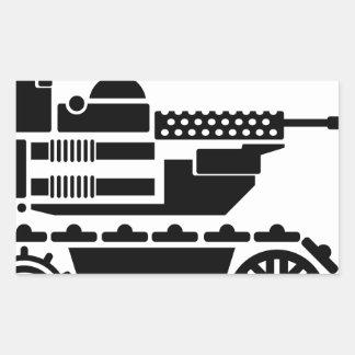 Military Combat remote controlled Robot Rectangular Sticker