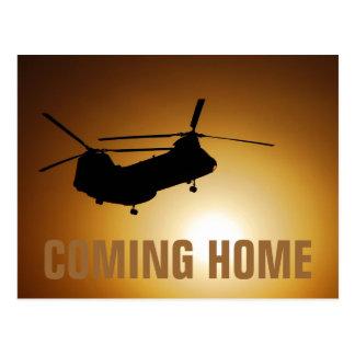 Military Coming Home postcard