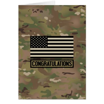 Military: Congratulations (Camouflage) Card