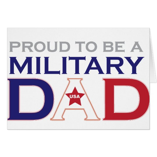 Military Dad Card