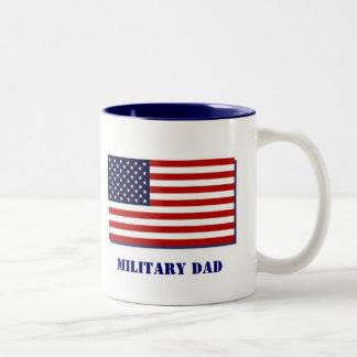 Military Dad Two-Tone Coffee Mug