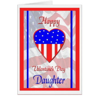 Military Daughter Valentine's Day Card
