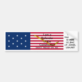 Military Defender of the Constitution sticker Bumper Stickers
