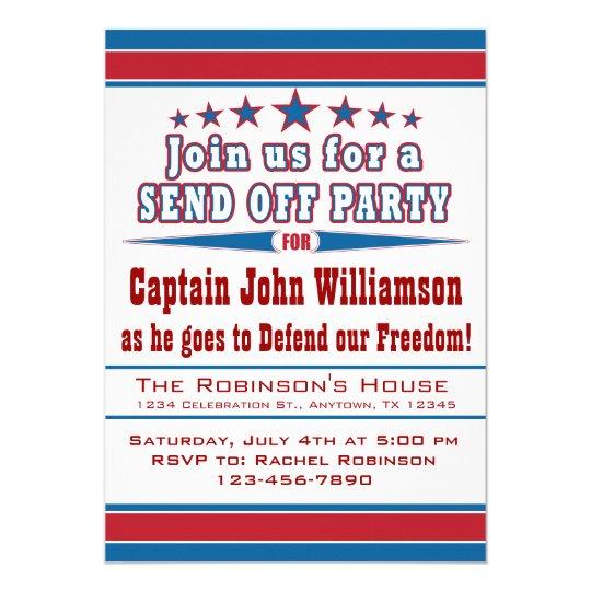 military deployment send off party invitation zazzle com