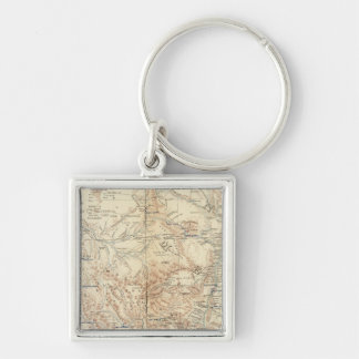 Military Dept New Mexico Silver-Colored Square Keychain