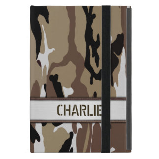 Military Desert Camo Name Template Cover For iPad Mini