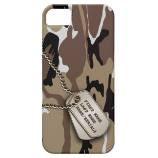 Military Desert Camo w/ Dog Tag iPhone SE/5/5s Case