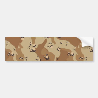 Military Desert Camouflage Background Bumper Sticker