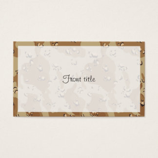 Military Desert Camouflage Background Business Card