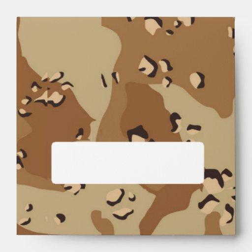 Military Desert Camouflage Background Envelopes