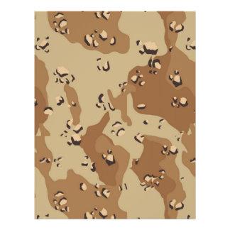 Military Desert Camouflage Background Custom Flyer