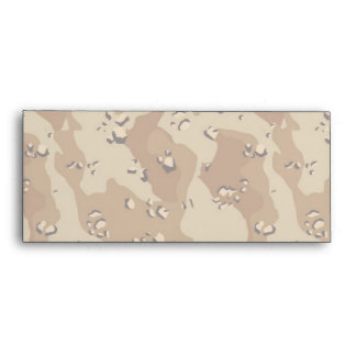 Military Desert Camouflage Background Lightened Envelope