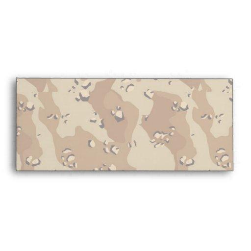 Military Desert Camouflage Background Lightened Envelopes