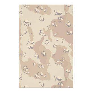 Military Desert Camouflage Background Lightened Stationery