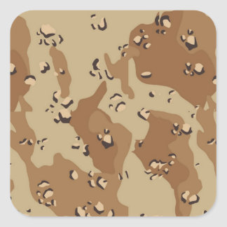 Military Desert Camouflage Background Square Sticker
