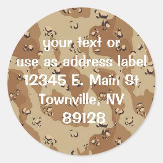 Military Desert Camouflage Background Sticker